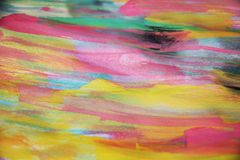 Watercolor pink, paint on burnt paper Stock Image