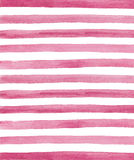 Watercolor pink and white stripes background Stock Image