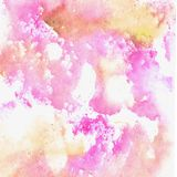 Watercolor pink and yellow texture vector illustration