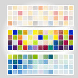 Watercolor pixel pattern banner. Vector Royalty Free Stock Photography