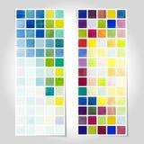 Watercolor pixel pattern banner. Vector Stock Photos