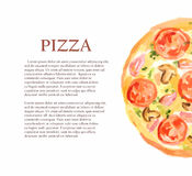 watercolor pizza. Stock Image