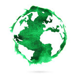 Watercolor planet earth. Spot Stock Photography