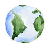 Watercolor planet Earth. royalty free illustration