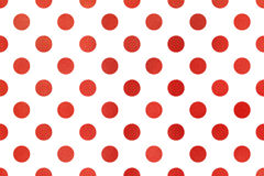 Watercolor polka dot background. Watercolor red polka dot background. Pattern with color polka dots for scrapbooks, wedding, party or baby shower invitations royalty free illustration