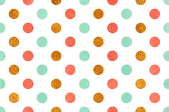 Watercolor polka dot background. Royalty Free Stock Images