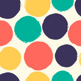 Watercolor polka dots. Royalty Free Stock Image