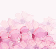 Watercolor poppies background Royalty Free Stock Photo