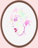 Watercolor portrait Royalty Free Stock Image