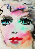 Watercolor Portrait Royalty Free Stock Images