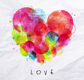 Watercolor poster love Royalty Free Stock Images