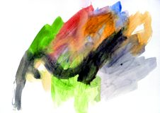 Watercolor practice Royalty Free Stock Photography