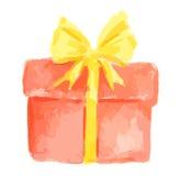 watercolor present. Stock Photo