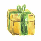 watercolor present. Royalty Free Stock Images
