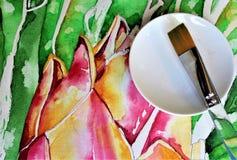 Watercolor in Progress Stock Image