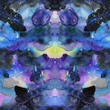 Watercolor psychedelic abstract art illustration. Raster trendy modern illustration. Seamless pattern Royalty Free Stock Photo