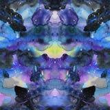 Watercolor psychedelic abstract art illustration. Raster trendy modern illustration. Seamless pattern vector illustration