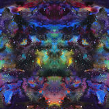 Watercolor psychedelic abstract art illustration. Raster trendy modern illustration. Seamless pattern Royalty Free Stock Photos