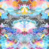 Watercolor psychedelic abstract art illustration. Raster trendy modern illustration. Seamless pattern Royalty Free Stock Images