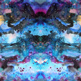 Watercolor psychedelic abstract art illustration. Raster trendy modern illustration. Seamless pattern Stock Photography