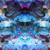 Watercolor psychedelic abstract art illustration. Raster trendy modern illustration. Seamless pattern stock illustration