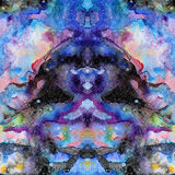 Watercolor psychedelic abstract art illustration. Raster trendy modern illustration. Seamless pattern Stock Image