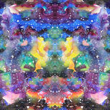 Watercolor psychedelic abstract art illustration. Raster trendy modern illustration. Seamless pattern Royalty Free Stock Photography