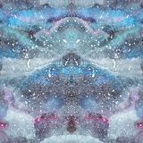 Watercolor psychedelic abstract art illustration. Raster trendy modern illustration. Seamless pattern Stock Images