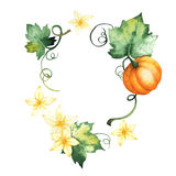 Watercolor pumpkin, hand-drawn isolated elements royalty free stock photography