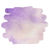 Watercolor purple background for text Royalty Free Stock Photos