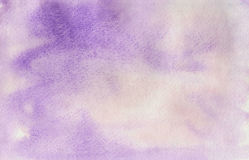 Watercolor purple background, texture of watercolor paper Stock Image