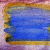 Watercolor purple, blue, plate abstract background Stock Photography