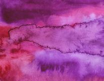 Watercolor purple bright abstract background. stock images