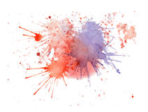 Watercolor purple and red  splashes Royalty Free Stock Images