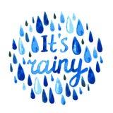 Watercolor rain vector illustration