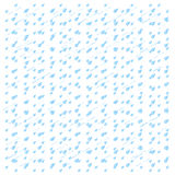 Watercolor rain. Blue drops isolated on white Stock Photography