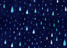 Watercolor rain. Stock Image