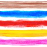 Watercolor rainbow background with some stripes Stock Images