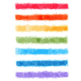 Watercolor rainbow banners Royalty Free Stock Photo