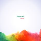 Watercolor rainbow border. Royalty Free Stock Photography