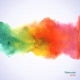 Watercolor rainbow border. Royalty Free Stock Image