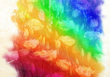 Watercolor rainbow Royalty Free Stock Image