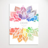 Watercolor rainbow flowers. Poster Royalty Free Stock Photo