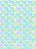 Scales of mermaid seamless pattern. Watercolor rainbow scales of mermaid. mint, yellow and lilac scales. colorful seamless pattern royalty free illustration