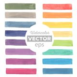 Watercolor rainbow stripes. All object made in vector. Each one is separately Stock Photo
