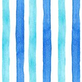 Watercolor rainbow stripes vector pattern stock illustration