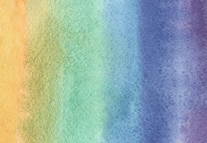 Watercolor rainbow Stock Photos