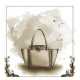 Watercolor raster illustration of a designer bag Stock Photography