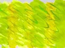 Watercolor raster summer background grass gradient yellow, green with streaks of smooth lines for cover layout and design. Illustration abstraction bright sunny stock photography