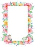 Watercolor rectangular frame. Royalty Free Stock Photo